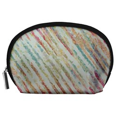 Diagonal Stripes Painting                                                               Accessory Pouch by LalyLauraFLM