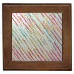Diagonal stripes painting                                                               			Framed Tile by LalyLauraFLM