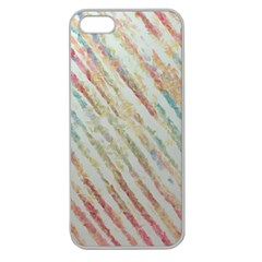 Diagonal Stripes Painting                                                               			apple Seamless Iphone 5 Case (clear) by LalyLauraFLM