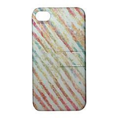Diagonal Stripes Painting                                                               apple Iphone 4/4s Hardshell Case With Stand by LalyLauraFLM