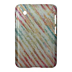 Diagonal Stripes Painting                                                               			samsung Galaxy Tab 2 (7 ) P3100 Hardshell Case by LalyLauraFLM