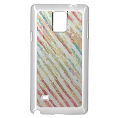 Diagonal Stripes Painting                                                               			samsung Galaxy Note 4 Case (white)