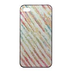 Diagonal Stripes Painting                                                               			apple Iphone 4/4s Seamless Case (black) by LalyLauraFLM