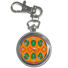 Rhombus and leaves                                                                			Key Chain Watch by LalyLauraFLM