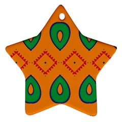 Rhombus And Leaves                                                                			ornament (star) by LalyLauraFLM