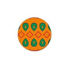Rhombus And Leaves                                                                golf Ball Marker (4 Pack) by LalyLauraFLM