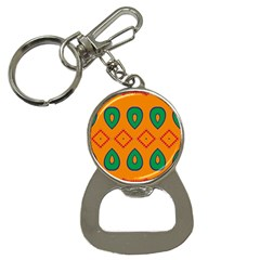 Rhombus And Leaves                                                                bottle Opener Key Chain by LalyLauraFLM