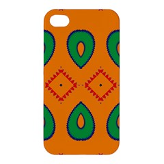 Rhombus And Leaves                                                                			apple Iphone 4/4s Premium Hardshell Case by LalyLauraFLM