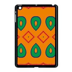 Rhombus And Leaves                                                                apple Ipad Mini Case (black) by LalyLauraFLM