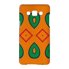 Rhombus And Leaves                                                                samsung Galaxy A5 Hardshell Case by LalyLauraFLM
