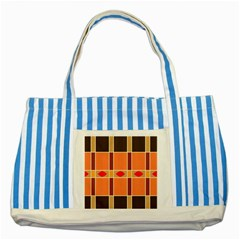 Shapes And Stripes                                                                 			striped Blue Tote Bag by LalyLauraFLM