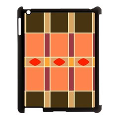 Shapes And Stripes                                                                 			apple Ipad 3/4 Case (black) by LalyLauraFLM