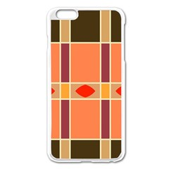 Shapes And Stripes                                                                 			apple Iphone 6 Plus/6s Plus Enamel White Case by LalyLauraFLM
