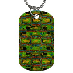 Paint Bricks                                                                 			dog Tag (one Side) by LalyLauraFLM
