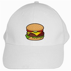 Cheeseburger White Cap by sifis
