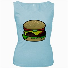 Cheeseburger Women s Baby Blue Tank Top by sifis