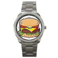 Cheeseburger Sport Metal Watch by sifis