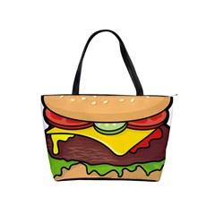 Cheeseburger Shoulder Handbags by sifis