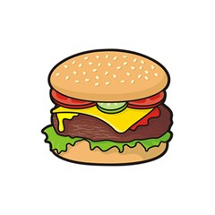 Cheeseburger Shower Curtain 60  X 72  (medium)  by sifis