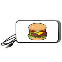 Cheeseburger Portable Speaker (black)  by sifis