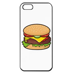 Cheeseburger Apple Iphone 5 Seamless Case (black) by sifis