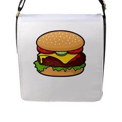 Cheeseburger Flap Messenger Bag (l)  by sifis
