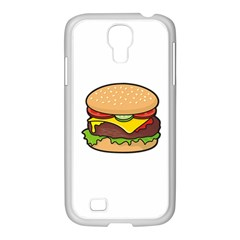 Cheeseburger Samsung Galaxy S4 I9500/ I9505 Case (white) by sifis