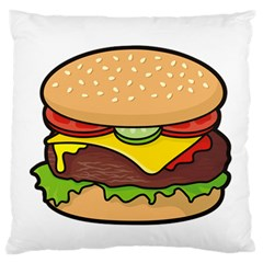 Cheeseburger Standard Flano Cushion Case (one Side) by sifis