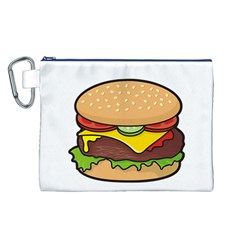Cheeseburger Canvas Cosmetic Bag (l) by sifis