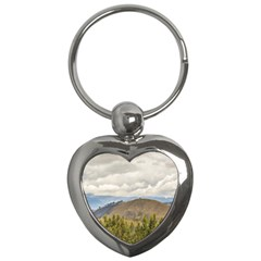 Ecuadorian Landscape At Chimborazo Province Key Chains (heart)  by dflcprints