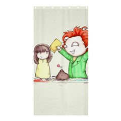 Mud Pies  Shower Curtain 36  X 72  (stall)  by lvbart