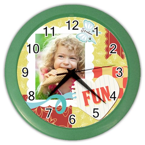 Kids By Kids   Color Wall Clock   Hq8kda6asie3   Www Artscow Com Front