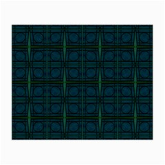 Dark Blue Teal Mod Circles Small Glasses Cloth by BrightVibesDesign