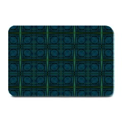 Dark Blue Teal Mod Circles Plate Mats by BrightVibesDesign