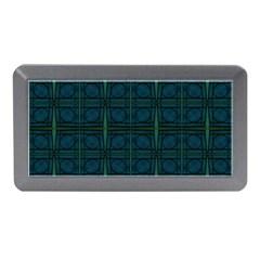 Dark Blue Teal Mod Circles Memory Card Reader (mini) by BrightVibesDesign