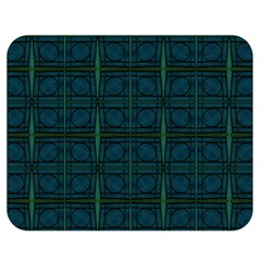 Dark Blue Teal Mod Circles Double Sided Flano Blanket (Medium)  by BrightVibesDesign