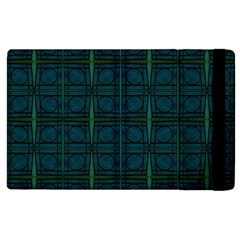 Dark Blue Teal Mod Circles Apple Ipad 2 Flip Case by BrightVibesDesign