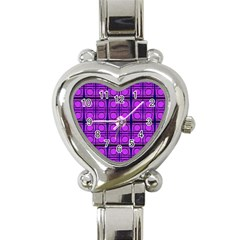 Bright Pink Mod Circles Heart Italian Charm Watch by BrightVibesDesign