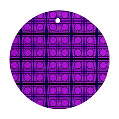 Bright Pink Mod Circles Ornament (round)  by BrightVibesDesign