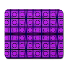 Bright Pink Mod Circles Large Mousepads by BrightVibesDesign