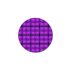 Bright Pink Mod Circles Golf Ball Marker (4 Pack) by BrightVibesDesign
