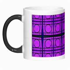 Bright Pink Mod Circles Morph Mugs by BrightVibesDesign
