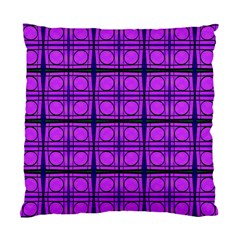 Bright Pink Mod Circles Standard Cushion Case (one Side) by BrightVibesDesign