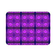 Bright Pink Mod Circles Double Sided Flano Blanket (mini)  by BrightVibesDesign