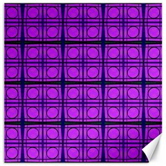 Bright Pink Mod Circles Canvas 16  X 16   by BrightVibesDesign