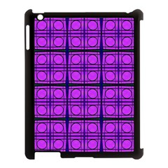 Bright Pink Mod Circles Apple Ipad 3/4 Case (black) by BrightVibesDesign