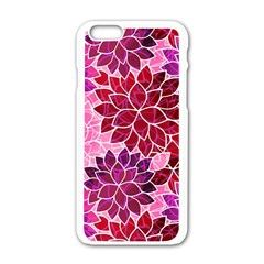 Rose Quartz Flowers Apple Iphone 6/6s White Enamel Case by KirstenStar