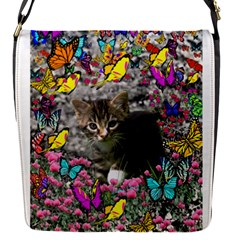Emma In Butterflies I, Gray Tabby Kitten Flap Covers (s)  by DianeClancy