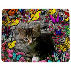 Emma In Butterflies I, Gray Tabby Kitten Jigsaw Puzzle Photo Stand (rectangular) by DianeClancy
