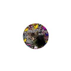 Emma In Butterflies I, Gray Tabby Kitten 1  Mini Magnets by DianeClancy